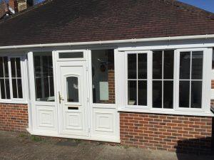 PVCu casement windows