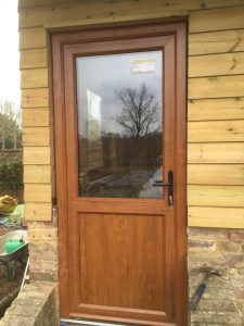 Timber back door
