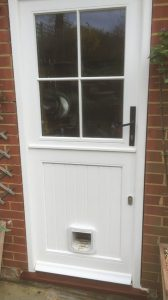 back door with cat flap