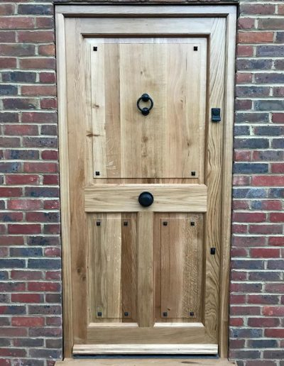 bespoke wood front door
