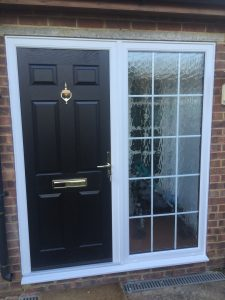 composite front door and side panel 4